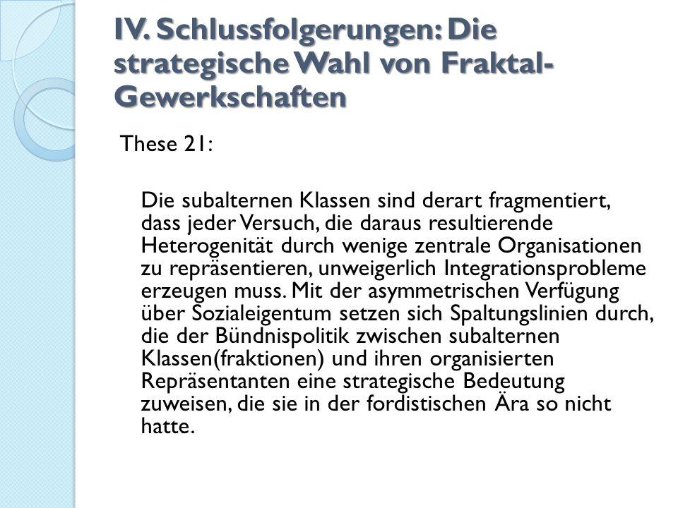 IV. Schlussfolgerungen: Die strategische Wahl von Fraktal-Gewerkschaften
