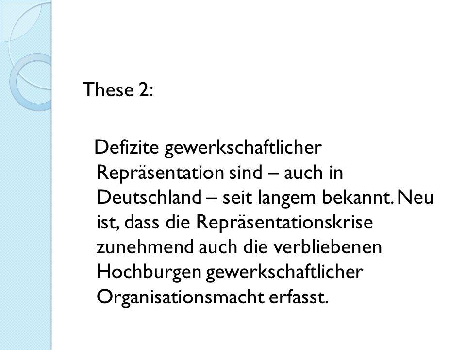 These 2: Defizite gewerkschaftlicher Repräsentation sind – auch in Deutschland – seit langem bekannt.