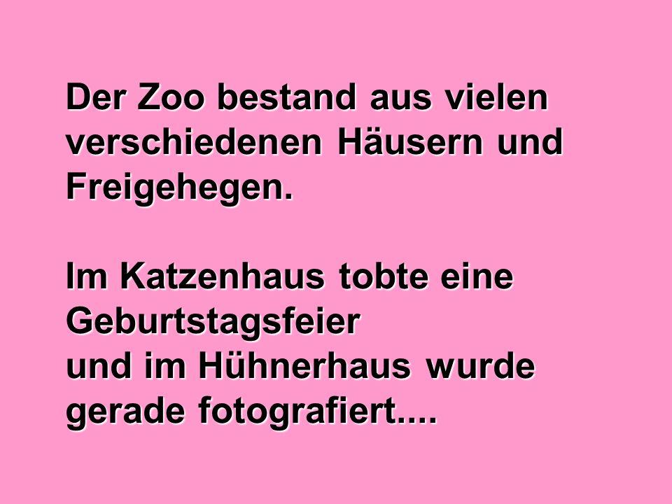 Der Zoo bestand aus vielen verschiedenen Häusern und Freigehegen.