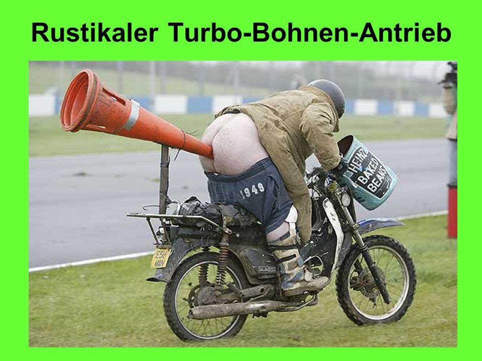 Rustikaler Turbo-Bohnen-Antrieb