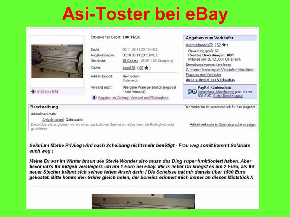 Asi-Toster bei eBay
