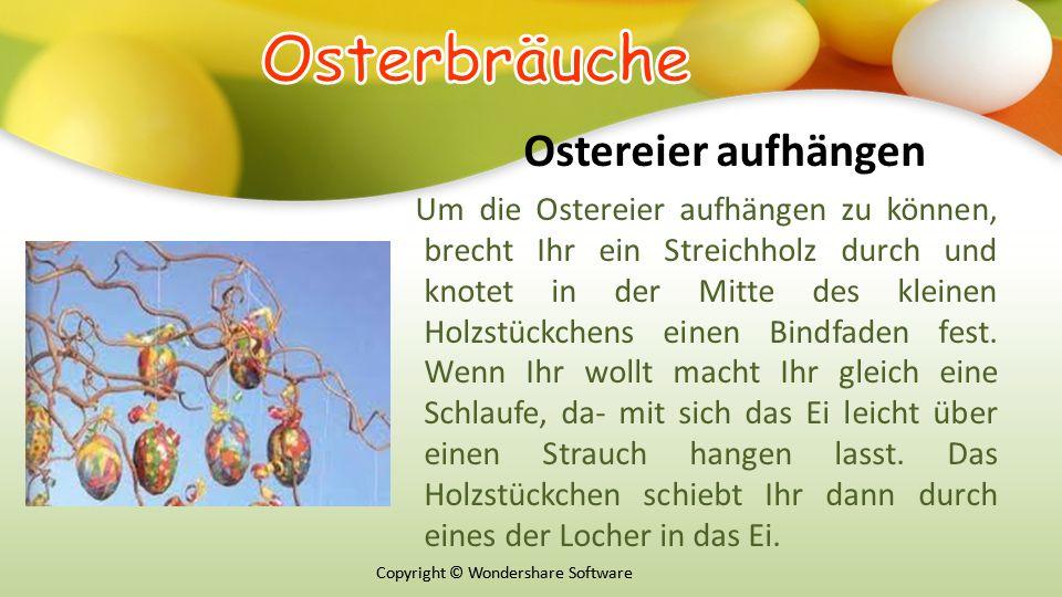 Оsterbräuche Ostereier aufhängen