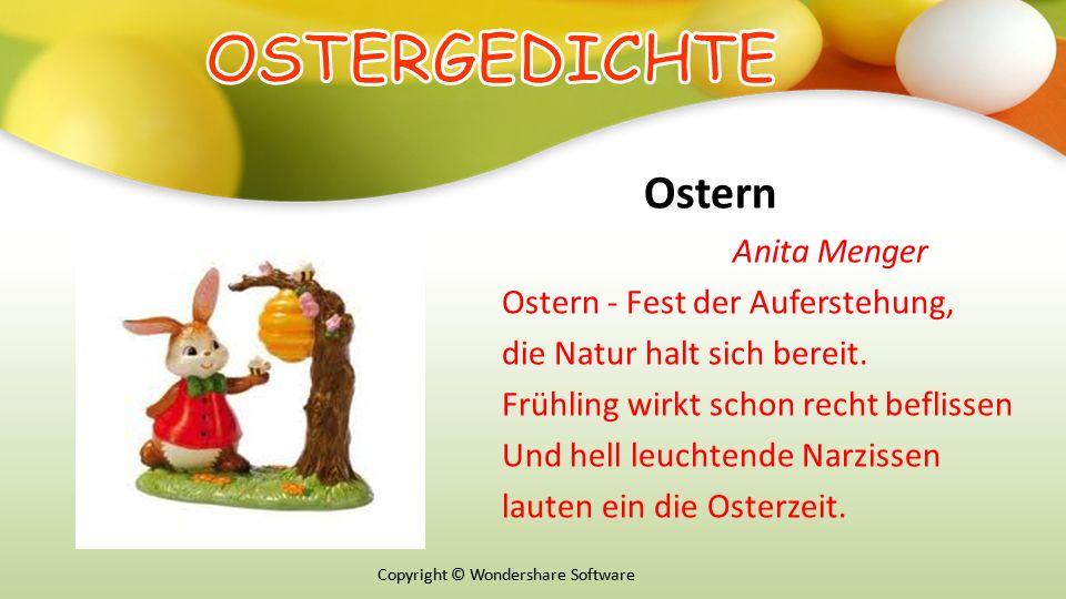 OSTERGEDICHTE Ostern Anita Menger Ostern - Fest der Auferstehung,
