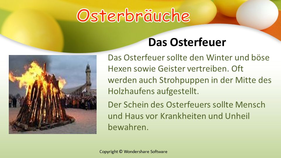 Оsterbräuche Das Osterfeuer