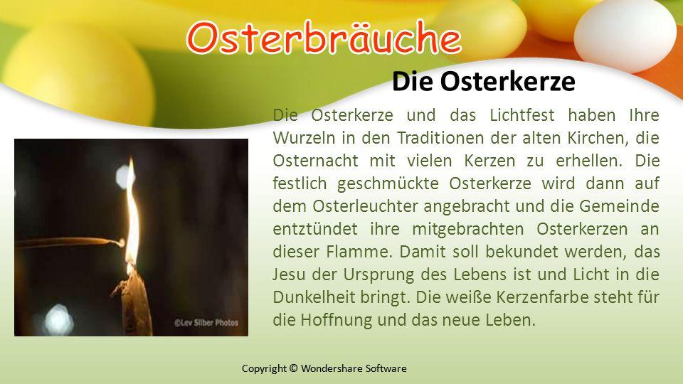 Оsterbräuche Die Osterkerze