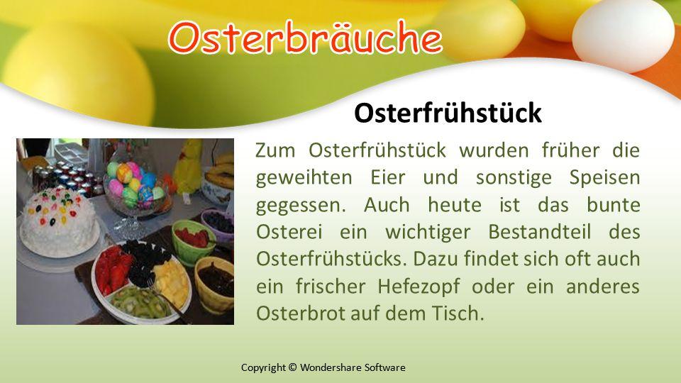 Оsterbräuche Osterfrühstück