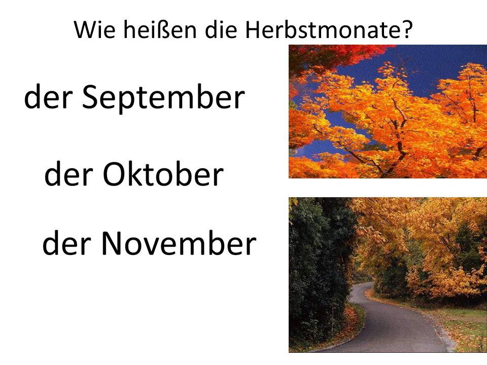 Wie heißen die Herbstmonate