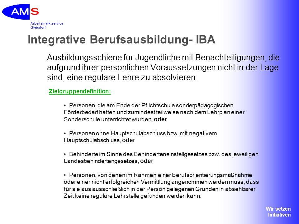 Integrative Berufsausbildung- IBA