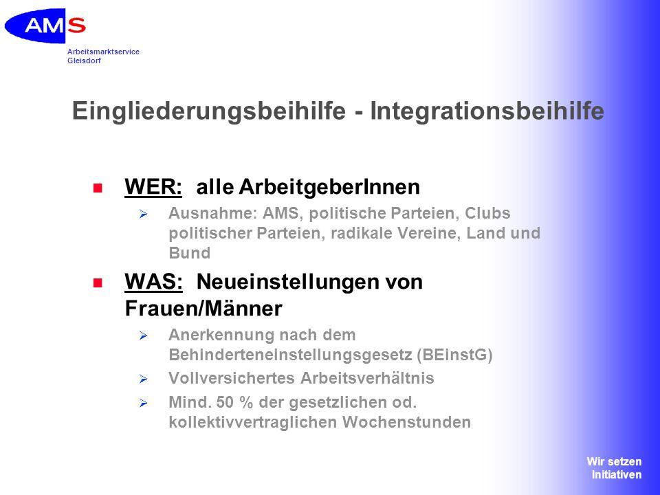 Eingliederungsbeihilfe - Integrationsbeihilfe