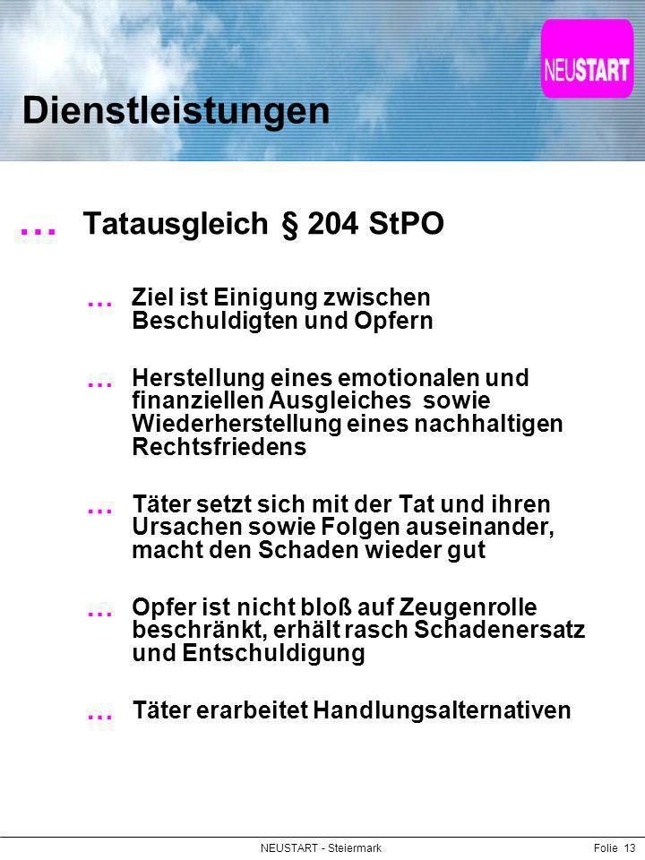 Dienstleistungen Tatausgleich § 204 StPO