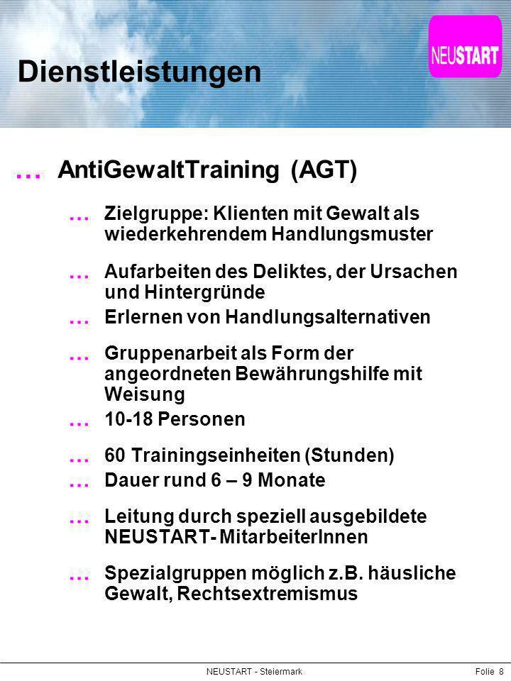 Dienstleistungen AntiGewaltTraining (AGT)