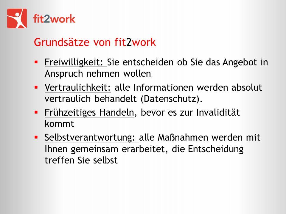 Grundsätze von fit2work