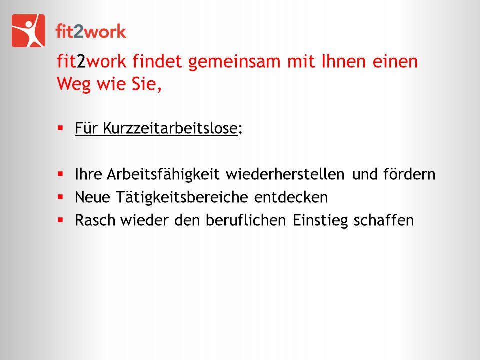 fit2work findet gemeinsam mit Ihnen einen Weg wie Sie,