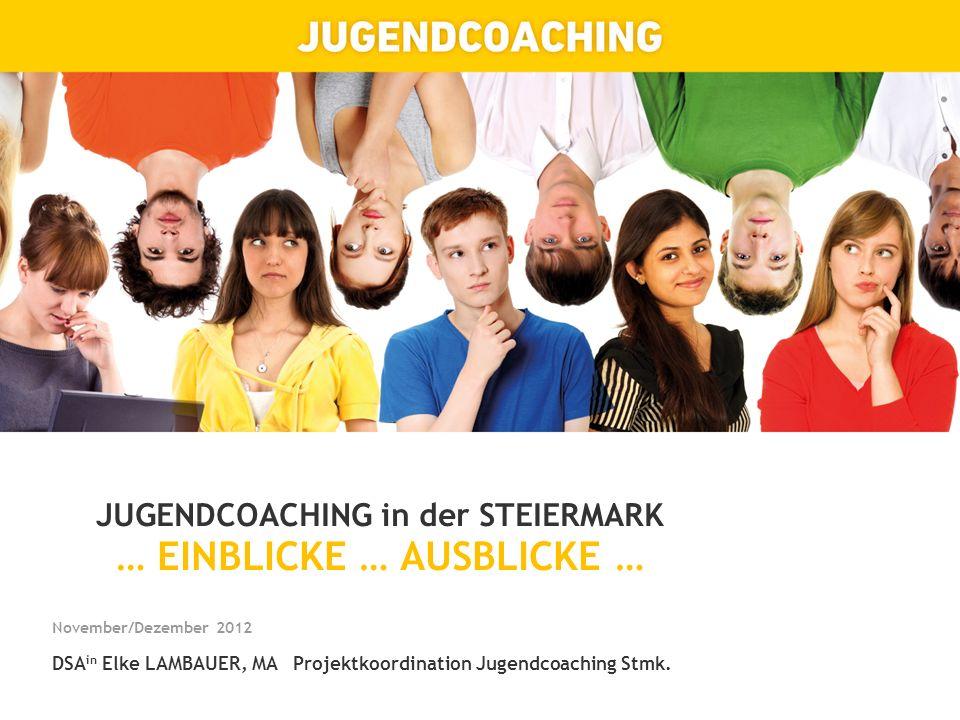 JUGENDCOACHING in der STEIERMARK … EINBLICKE … AUSBLICKE …