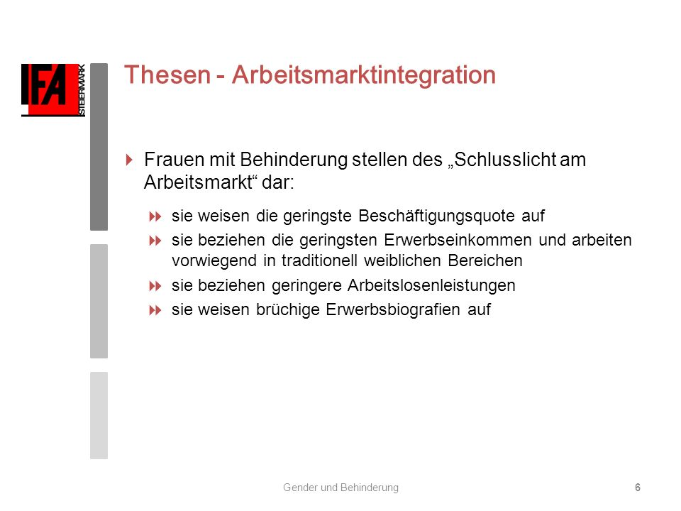 Thesen - Arbeitsmarktintegration