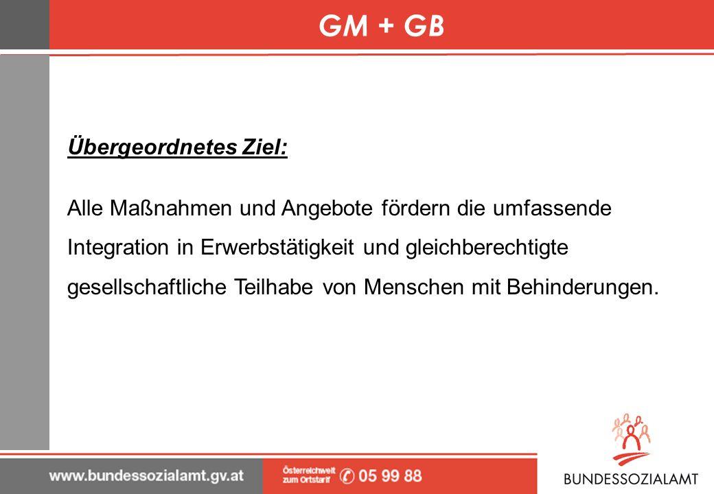 GM + GB Übergeordnetes Ziel:
