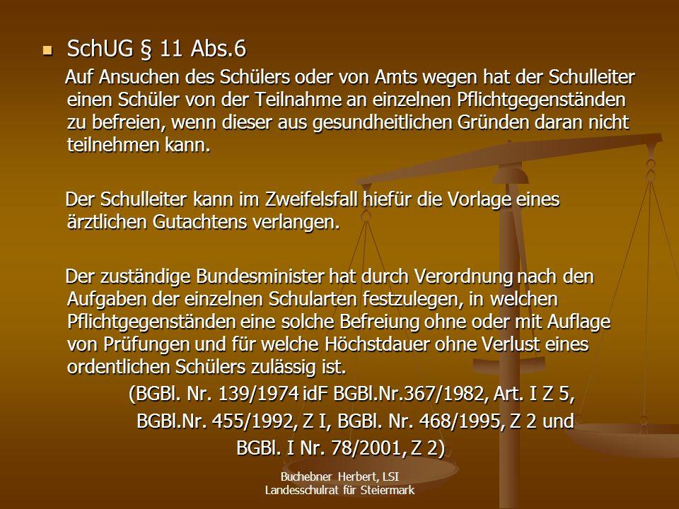SchUG § 11 Abs.6