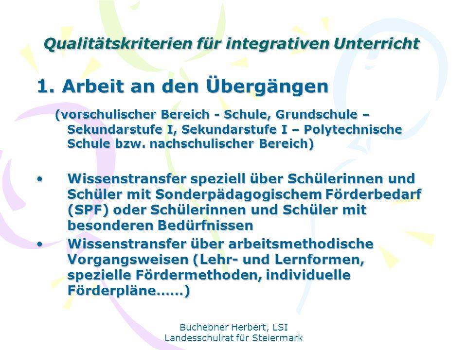 Qualitätskriterien für integrativen Unterricht