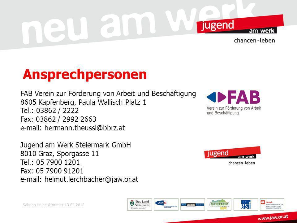 Ansprechpersonen FAB Verein zur Förderung von Arbeit und Beschäftigung