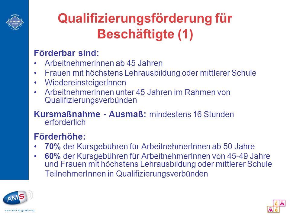 Qualifizierungsförderung für Beschäftigte (1)