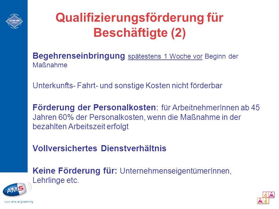 Qualifizierungsförderung für Beschäftigte (2)