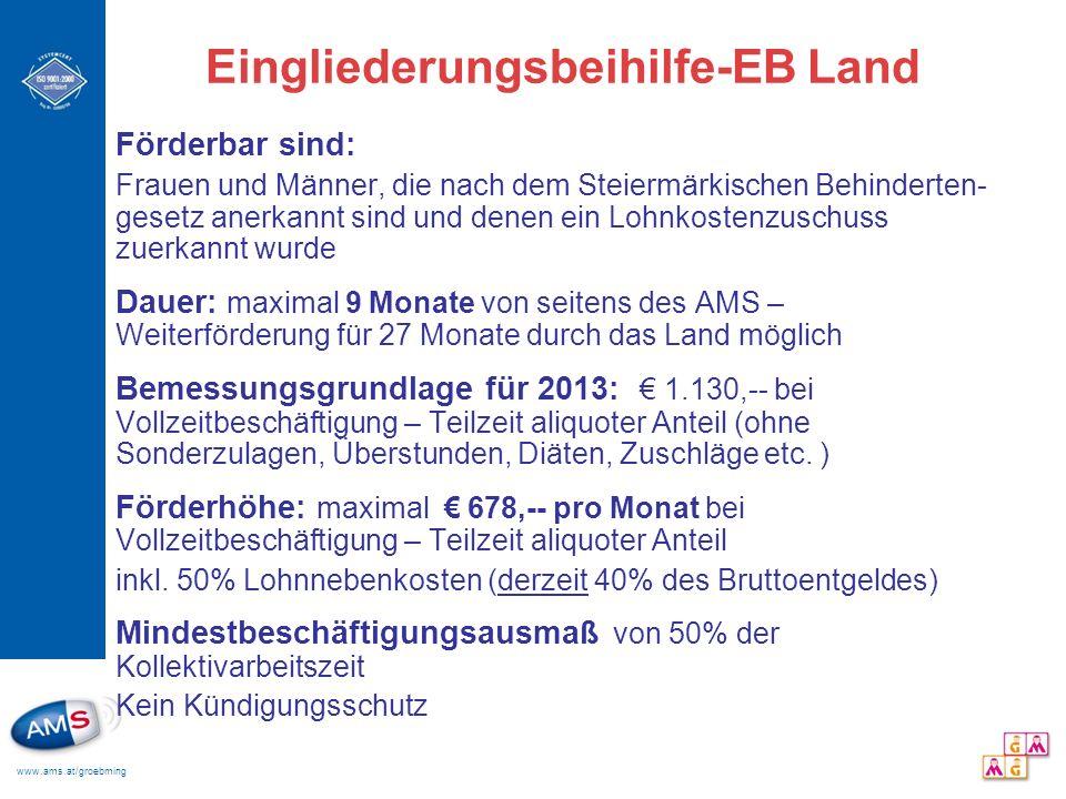 Eingliederungsbeihilfe-EB Land