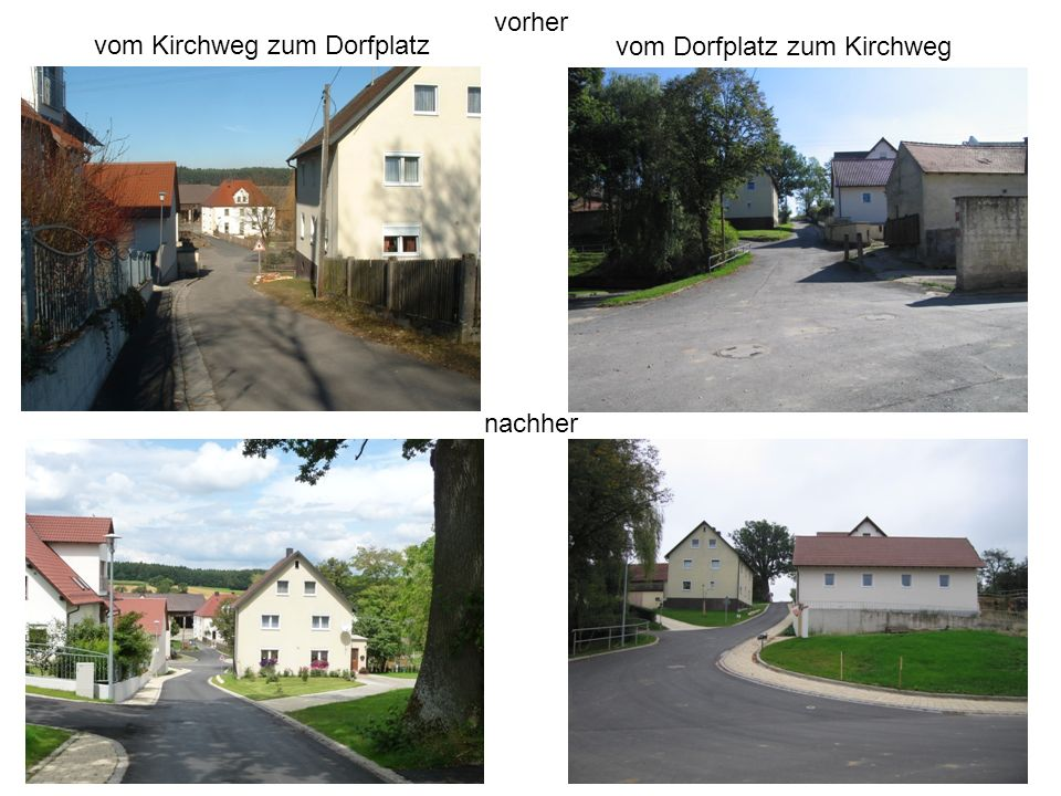 vom Kirchweg zum Dorfplatz vom Dorfplatz zum Kirchweg