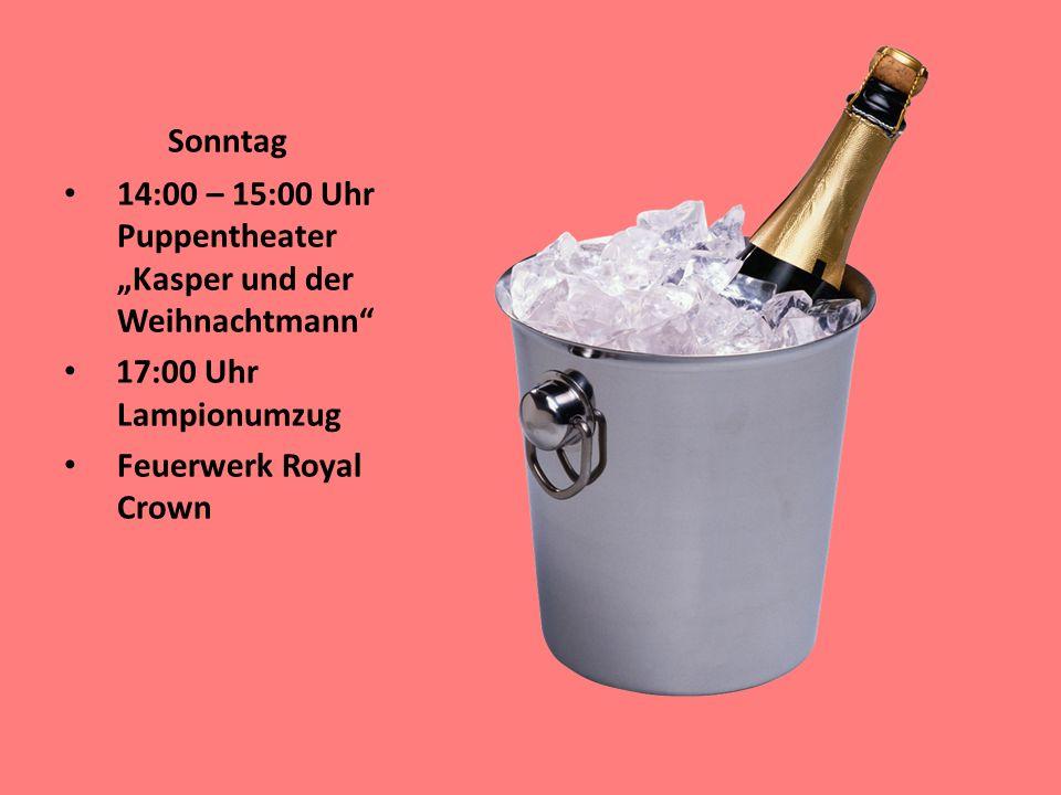"""Sonntag 14:00 – 15:00 Uhr Puppentheater """"Kasper und der Weihnachtmann 17:00 Uhr Lampionumzug."""