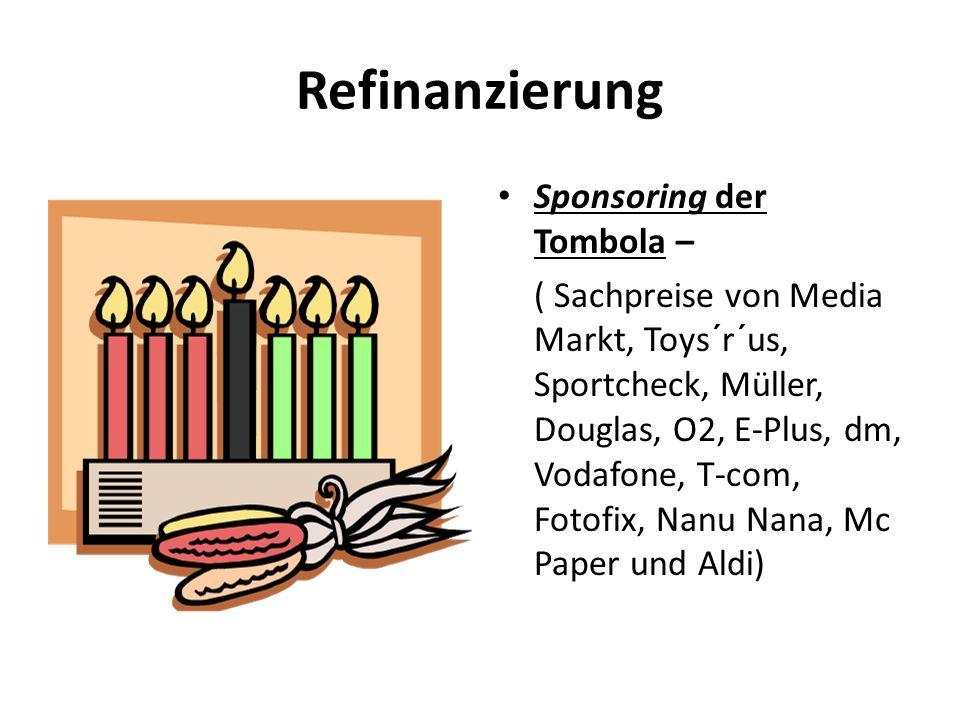 Refinanzierung Sponsoring der Tombola –