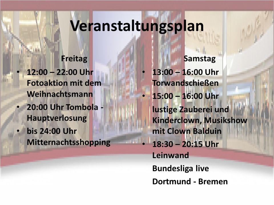 Veranstaltungsplan Freitag Samstag