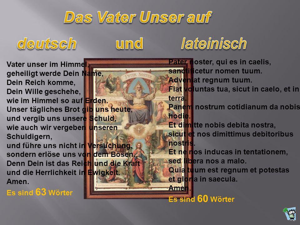 Das Vater Unser auf deutsch und