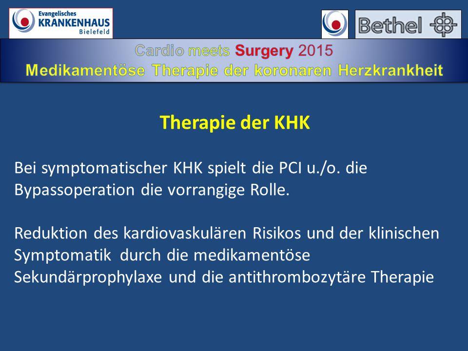 Medikamentöse Therapie der koronaren Herzkrankheit