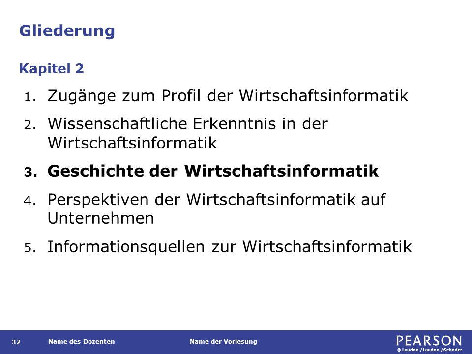 Phasen der historischen Entwicklung der WI im deutschsprachigen Raum