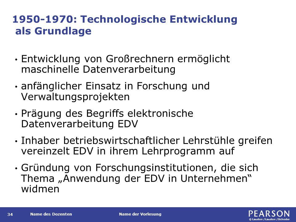 1970-1980: Erste Ansätze zur Institutionalisierung des Fachs