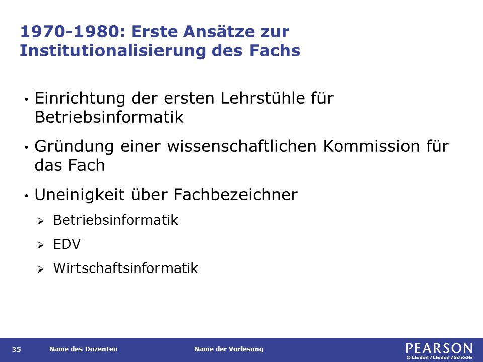 1980-1990: Zunehmende Etablierung des Fachs