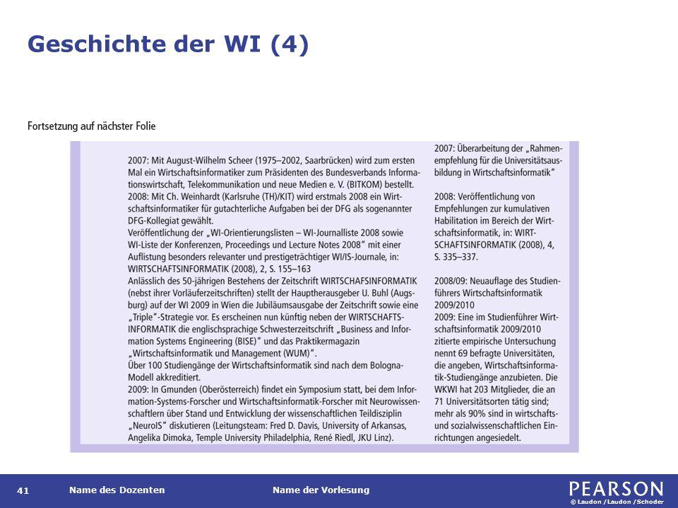 Geschichte der WI (5)