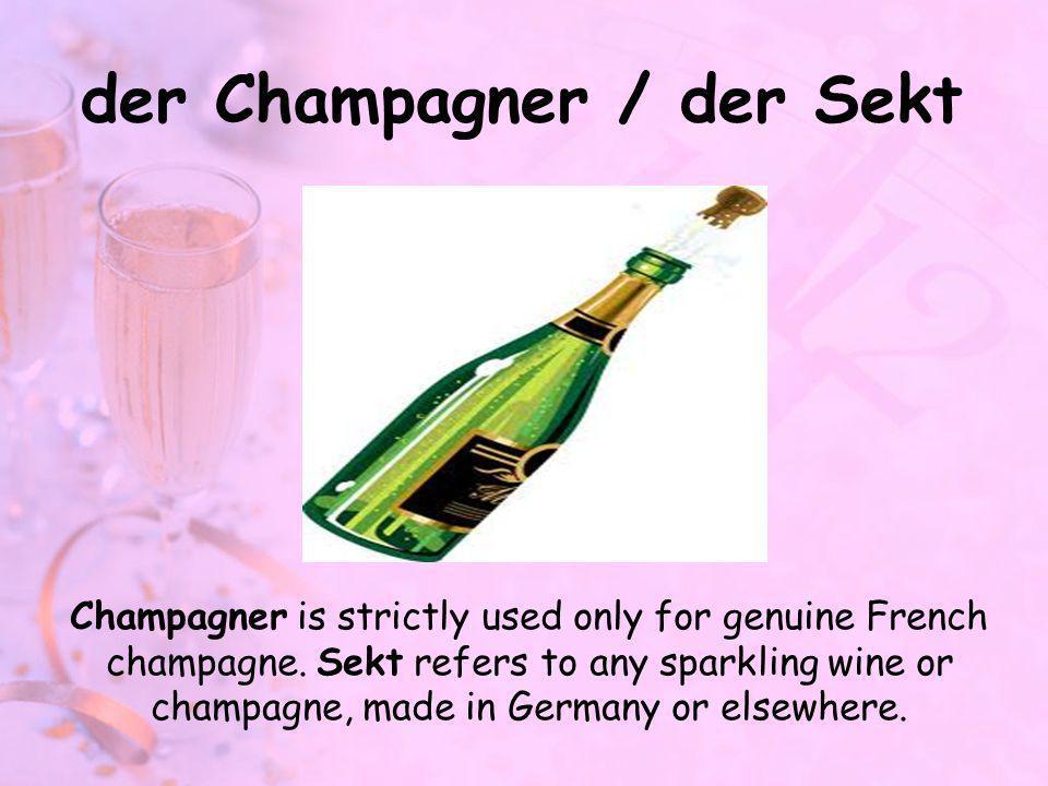 der Champagner / der Sekt
