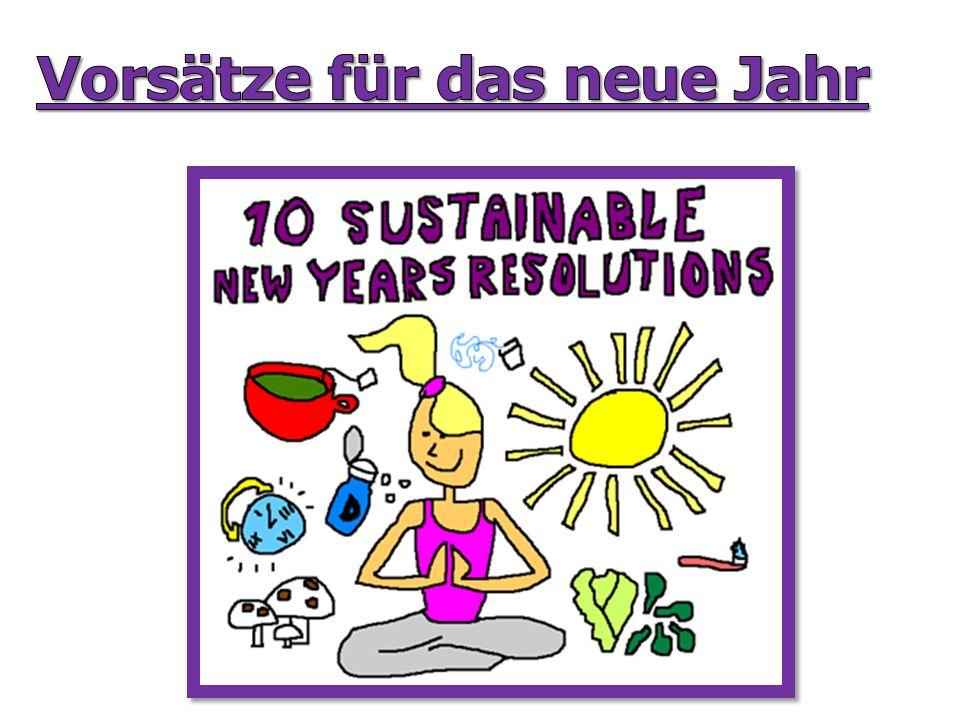 Vorsätze für das neue Jahr