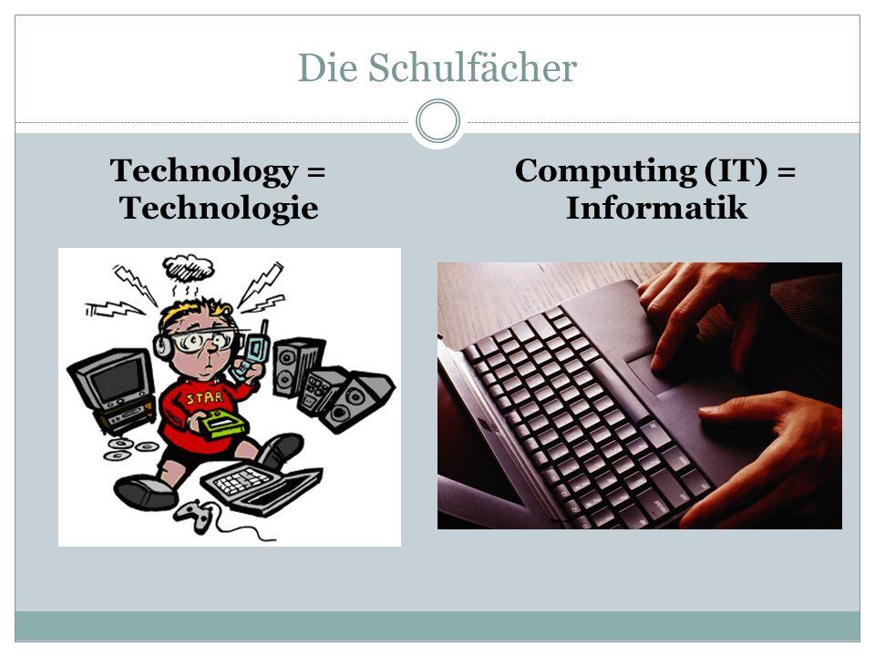 Technology = Technologie Computing (IT) = Informatik