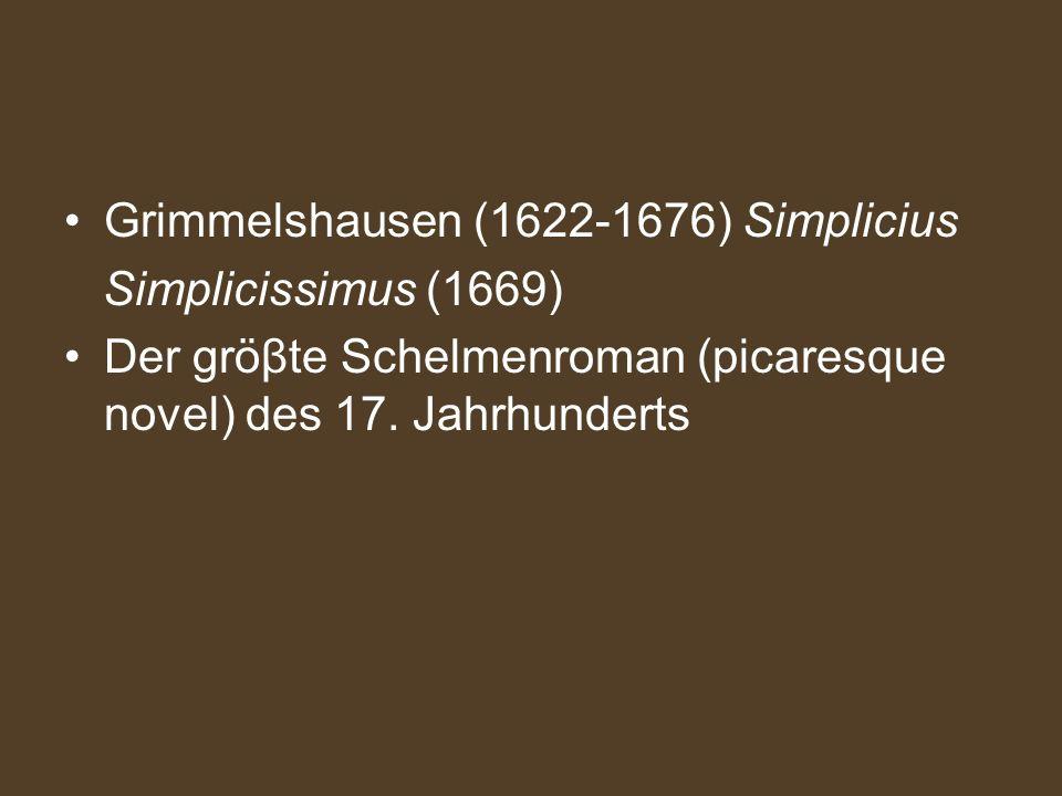 Grimmelshausen (1622-1676) Simplicius