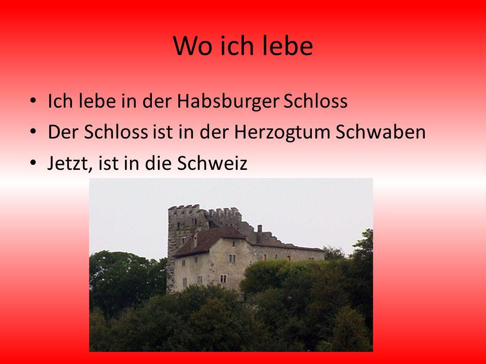 Wo ich lebe Ich lebe in der Habsburger Schloss