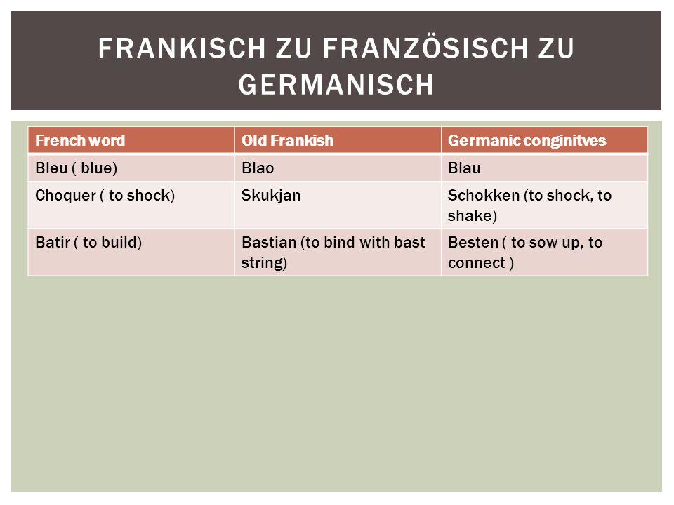 Frankisch zu FranzÖsisch zu Germanisch