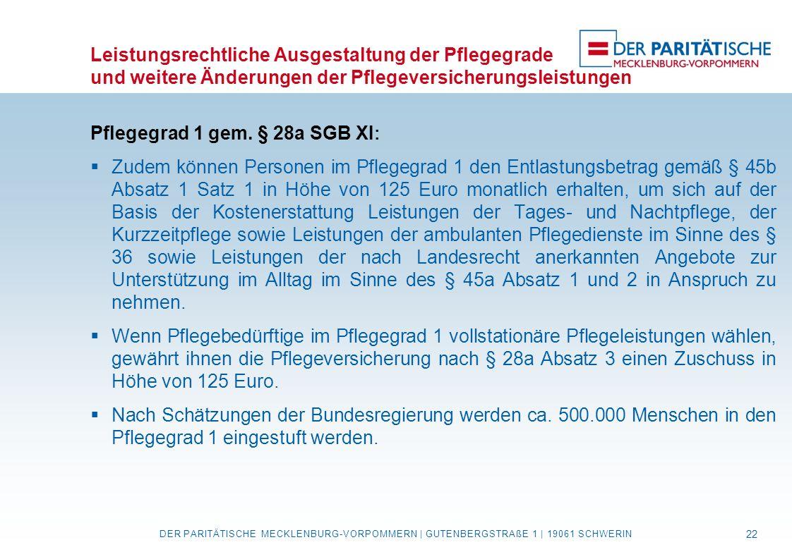 Pflegegrad 1 gem. § 28a SGB XI: