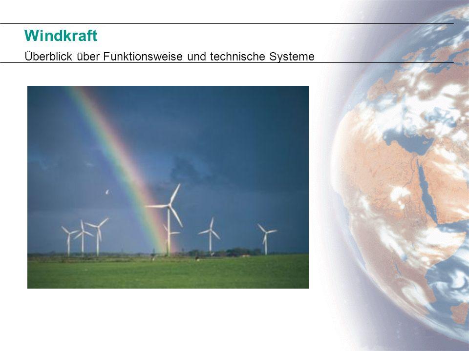 Windkraft Überblick über Funktionsweise und technische Systeme