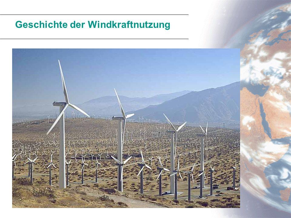Geschichte der Windkraftnutzung