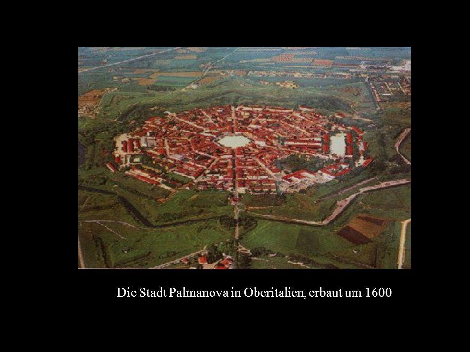 Die Stadt Palmanova in Oberitalien, erbaut um 1600