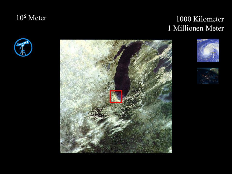 106 Meter 1000 Kilometer 1 Millionen Meter