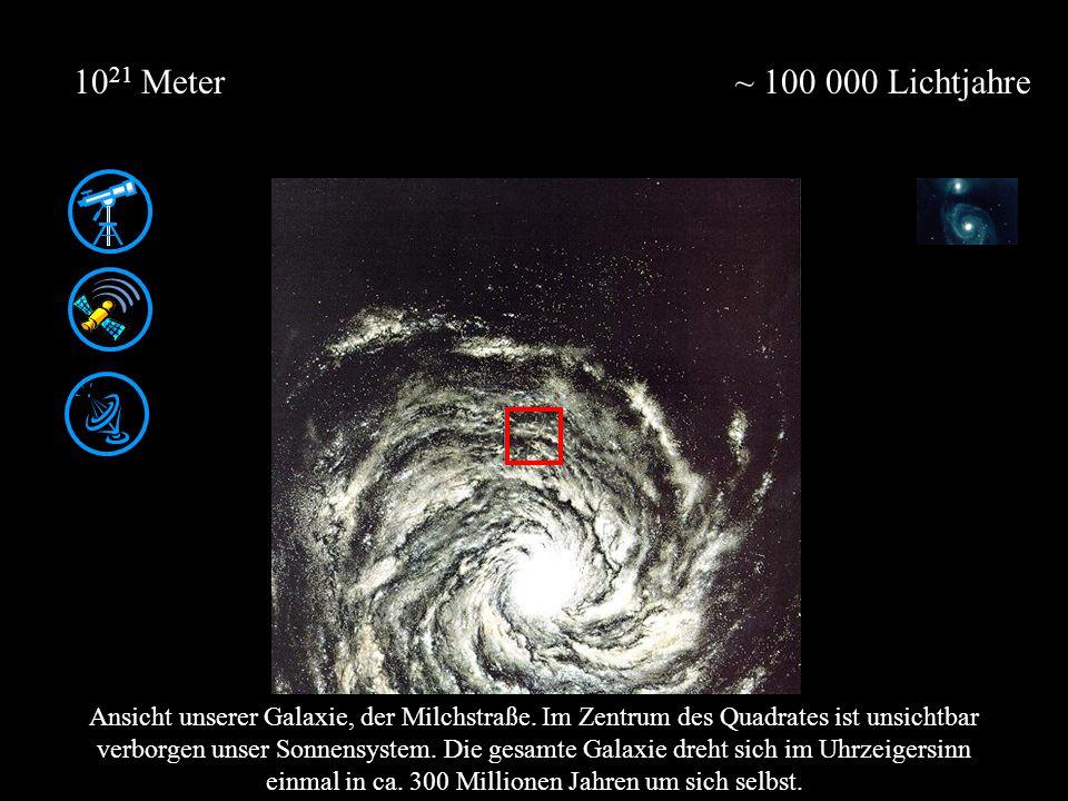 1021 Meter ~ 100 000 Lichtjahre.