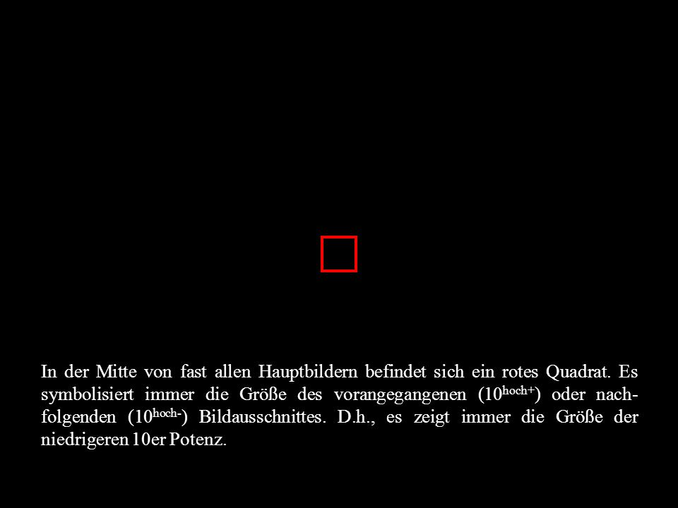 In der Mitte von fast allen Hauptbildern befindet sich ein rotes Quadrat.