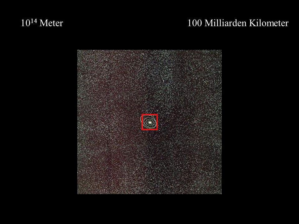 1014 Meter 100 Milliarden Kilometer